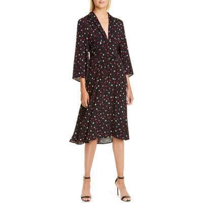 Ba & sh Lilia Floral Dress, Black