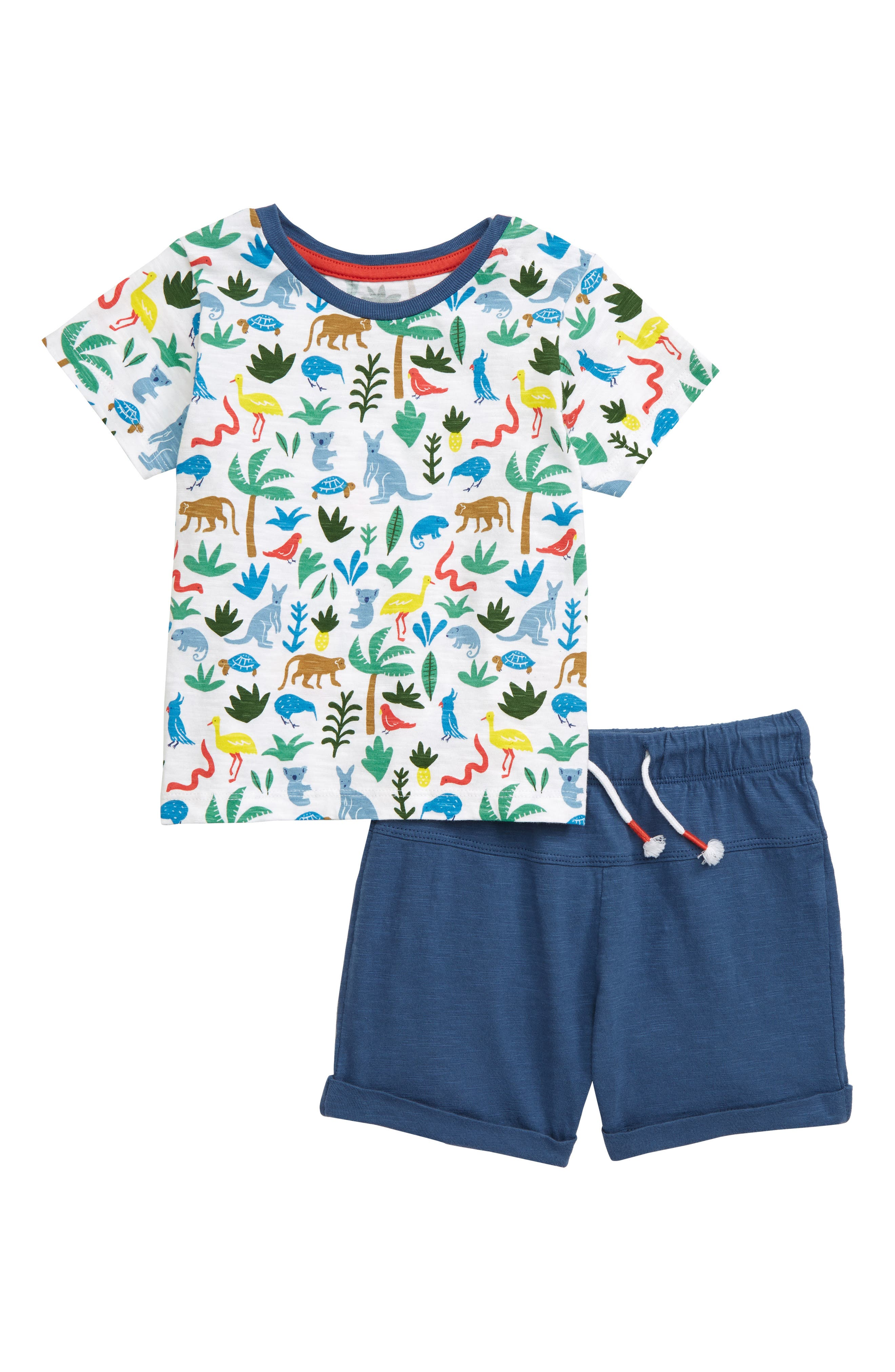 Toddler Boys Mini Boden Fun Pocket TShirt  Shorts Set (Baby  Toddler Boys)
