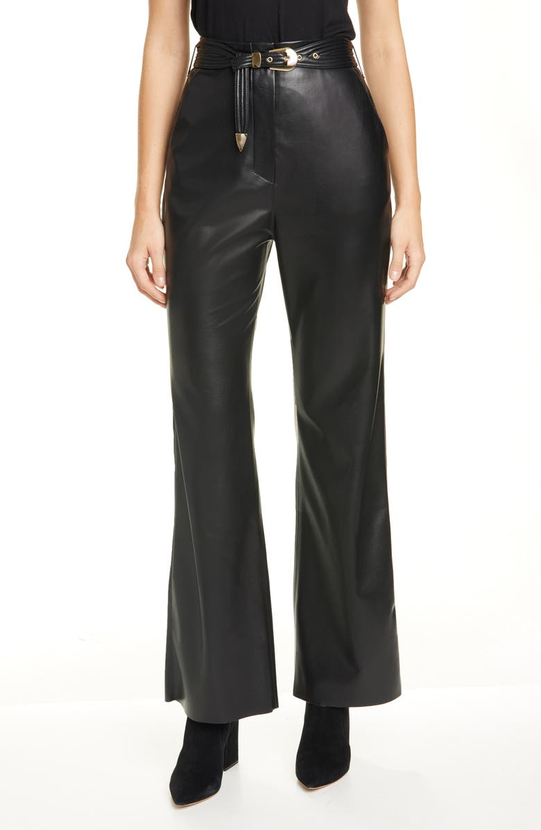 NANUSHKA Kisa Faux Leather Pants, Main, color, BLACK