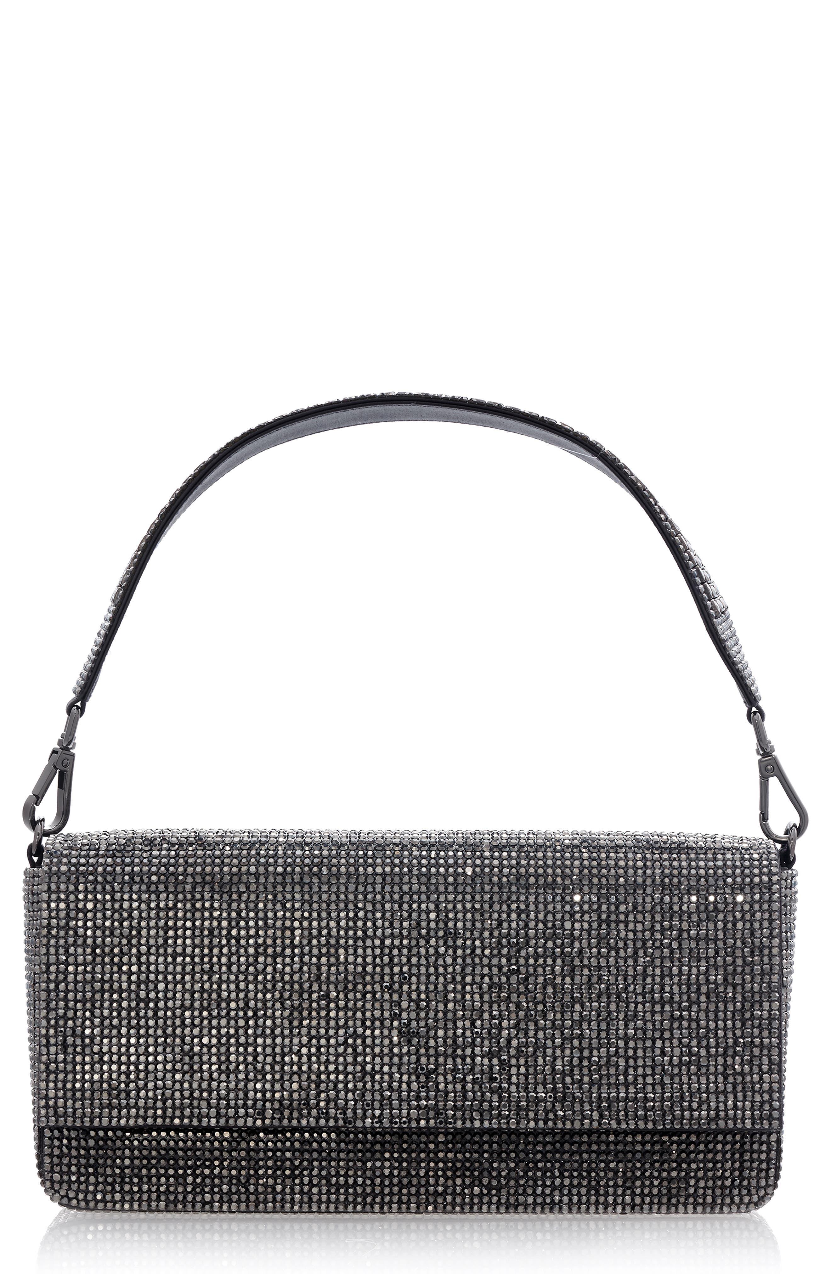 Couture Brigitte Crystal Embellished Shoulder Bag