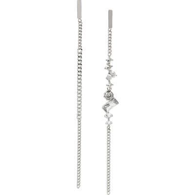 Allsaints Mismatched Chain Drop Earrings