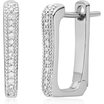 Monica Vinader Alta Capture Diamond Huggie Earrings