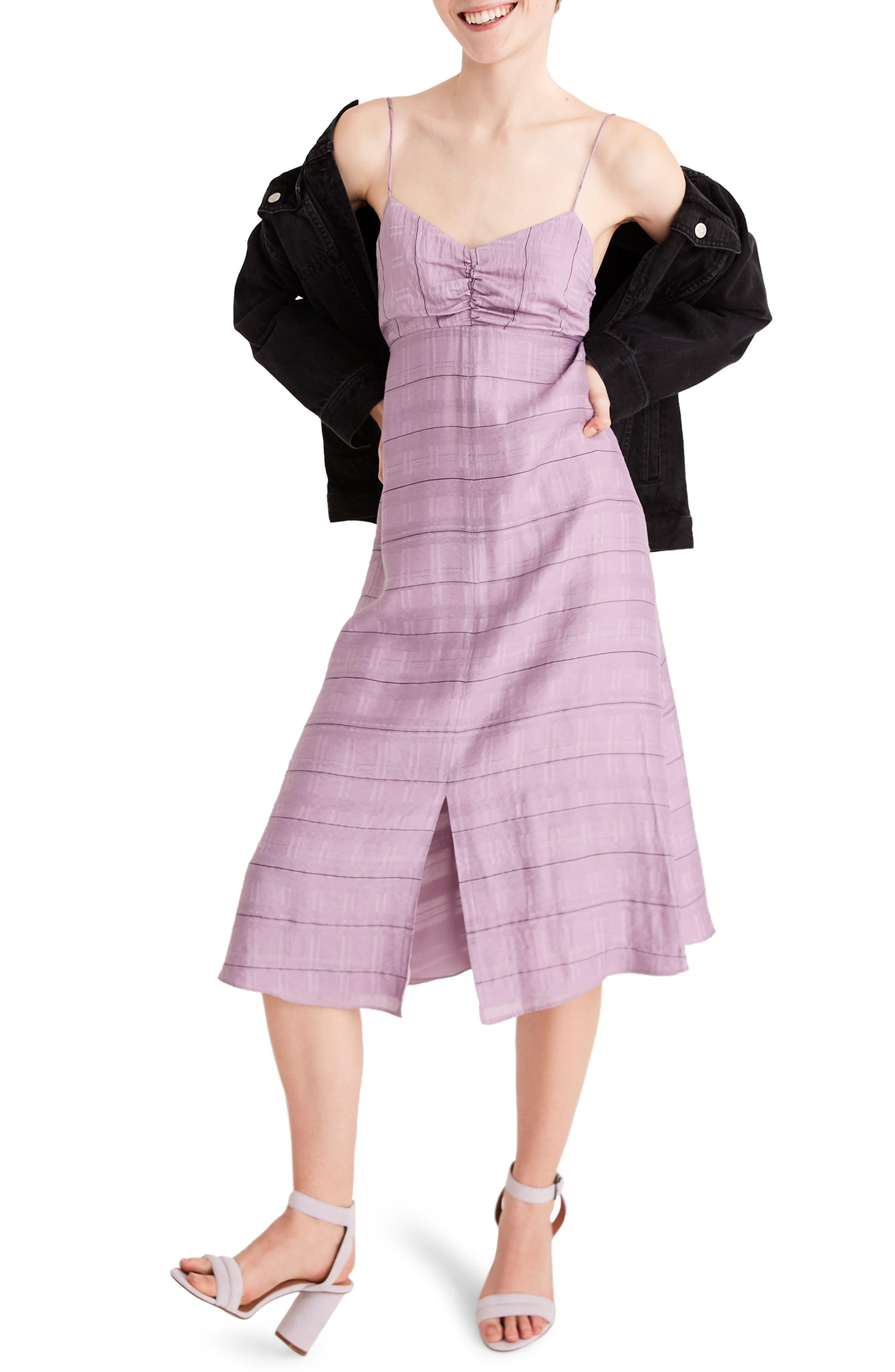 Madewell Tie Back Cami Dress, Purple