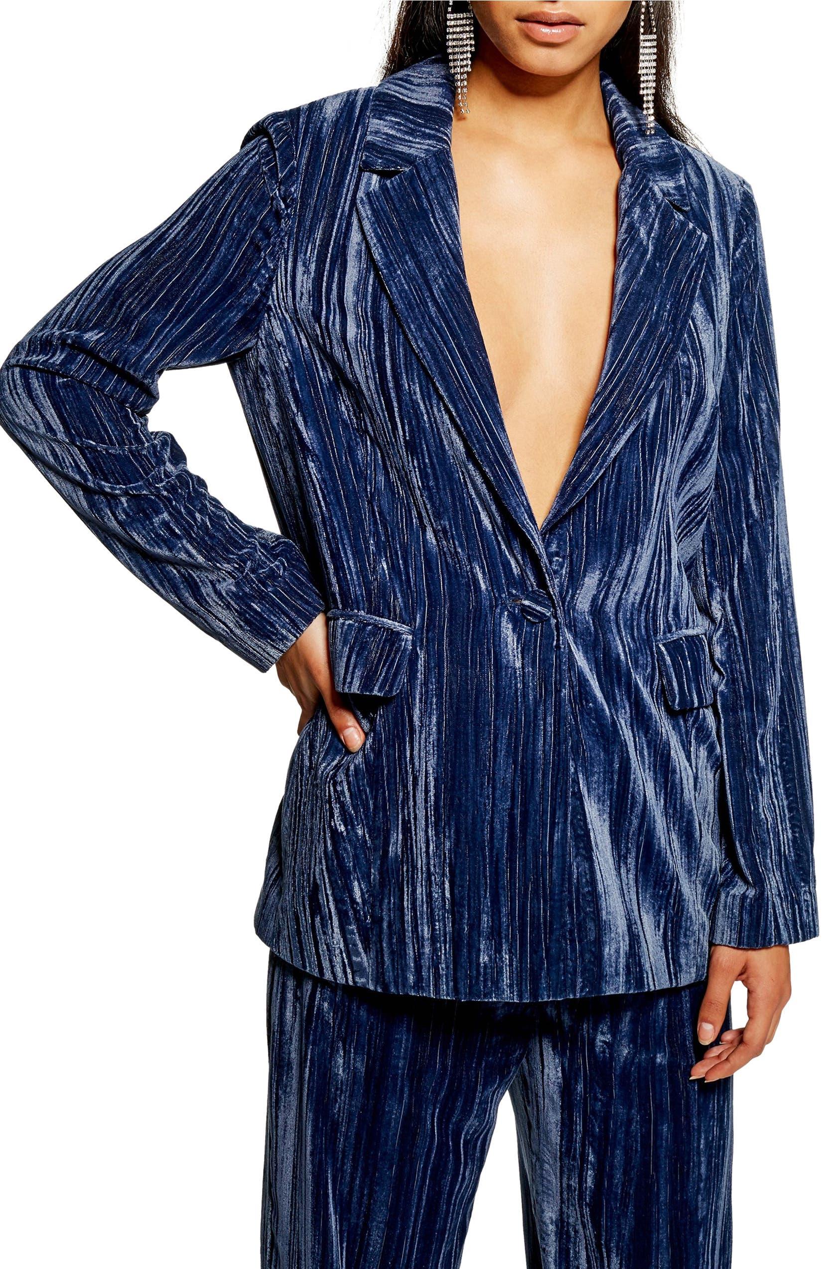 9df02a066 Crinkle Velvet Jacket