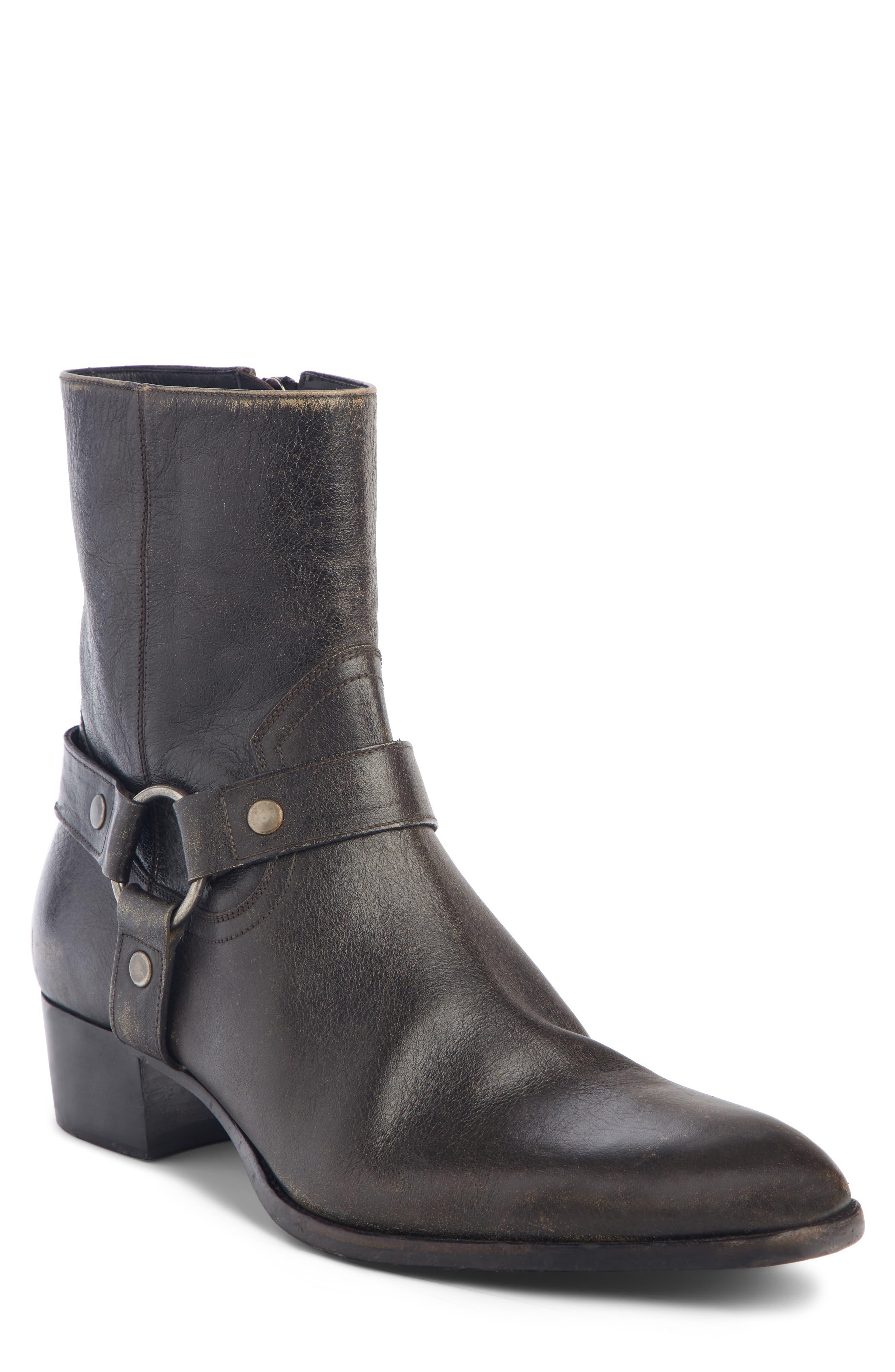 Saint Laurent Wyatt Harness Boot (Men