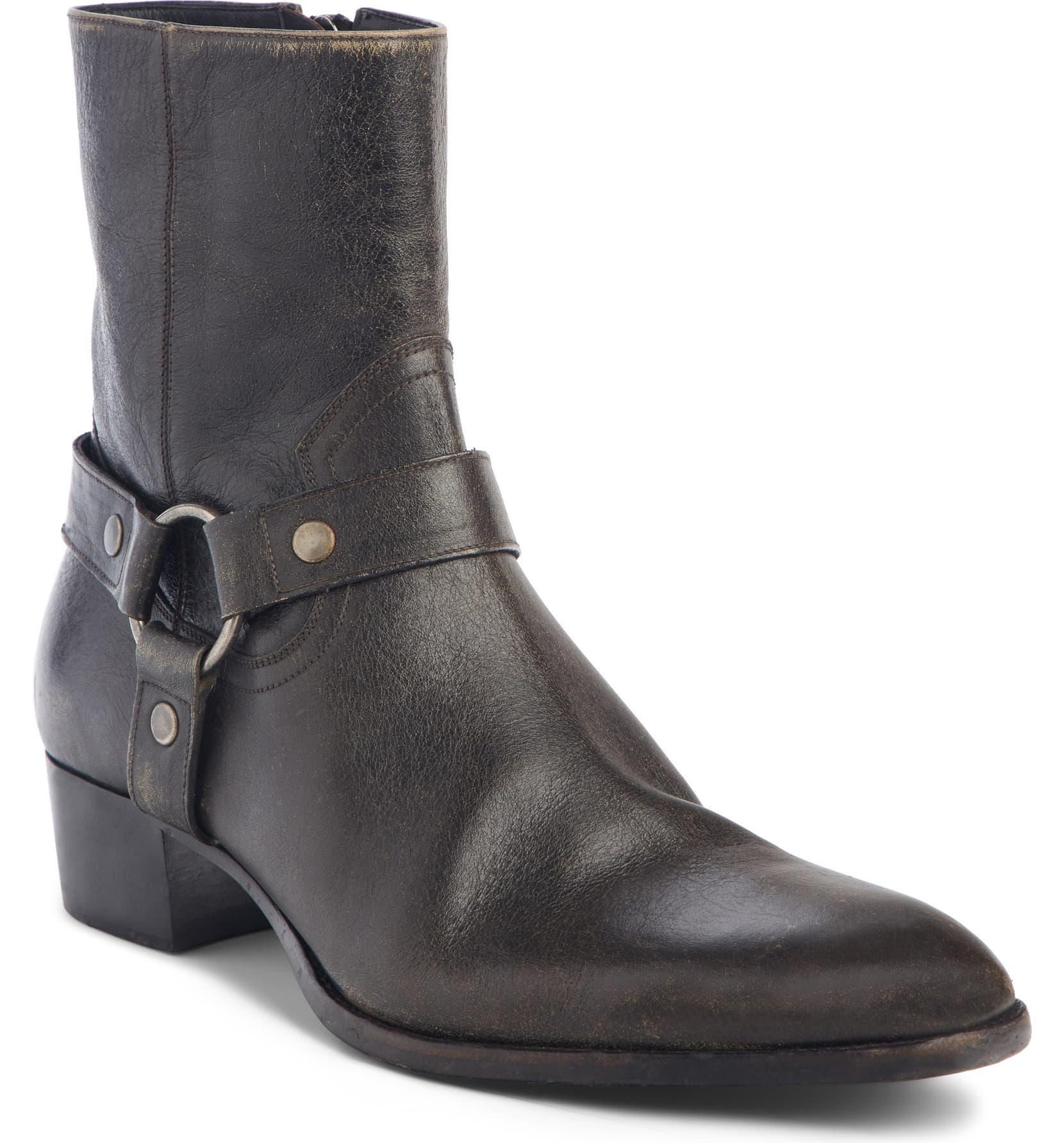19c511f2f73 Saint Laurent Wyatt Harness Boot (Men) | Nordstrom