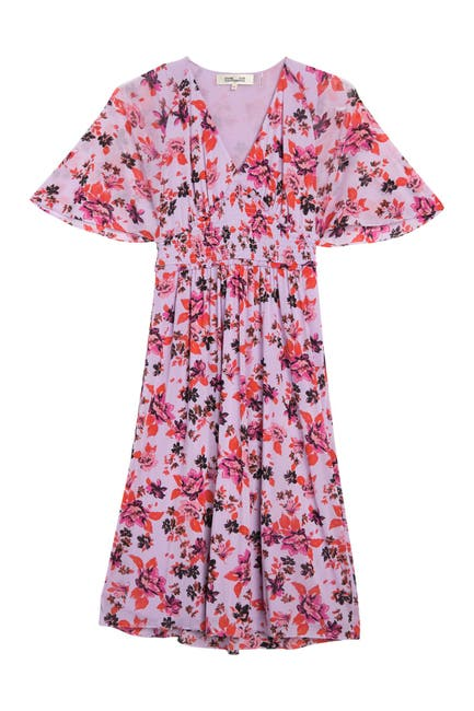 Image of Diane von Furstenberg Nala Floral Smocked Midi Dress