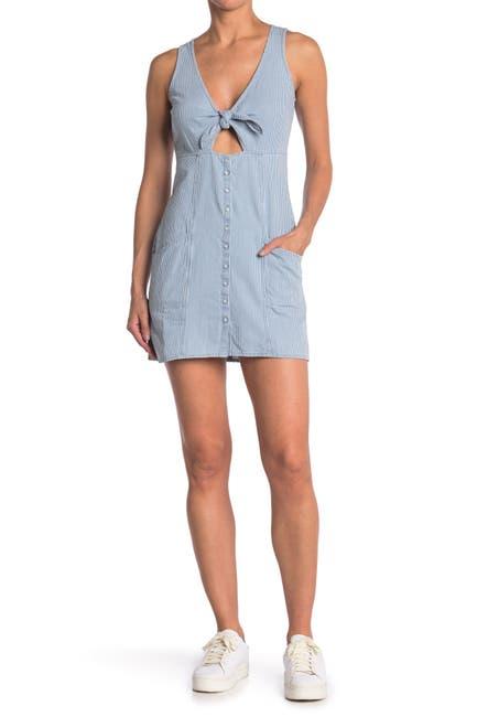 Image of Obey Vista Front Tie Mini Dress