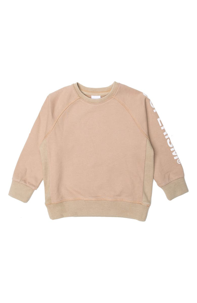 SUPERISM Andy Fleece Sweatshirt, Main, color, SAND