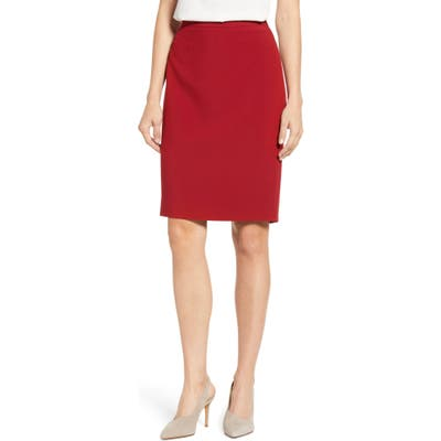 1.state Solid Pencil Skirt, Red