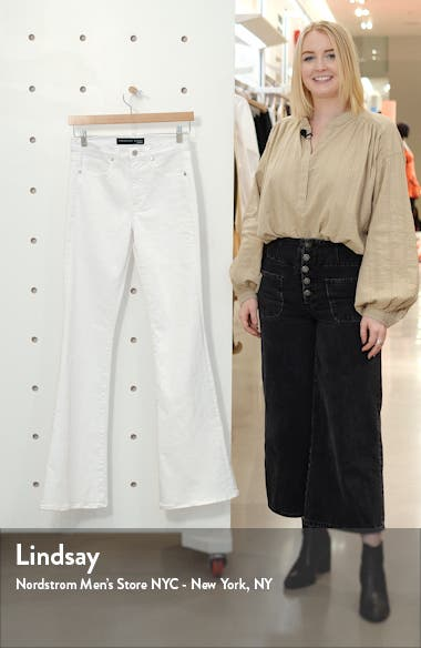 Beverly High Waist Skinny Flare Jeans, sales video thumbnail