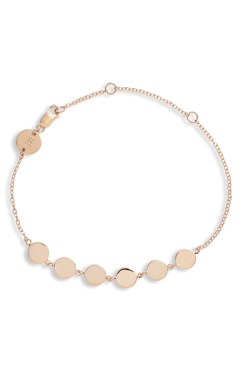 JENNIFER ZEUNER Lennie Bracelet, Main, color, ROSE GOLD VERMEIL