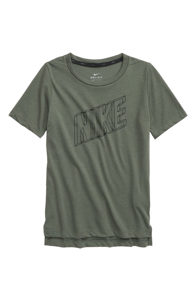 NIKE Breathe Dri-FIT Graphic T-Shirt, Main, color, JUNIPER FOG/ BLACK