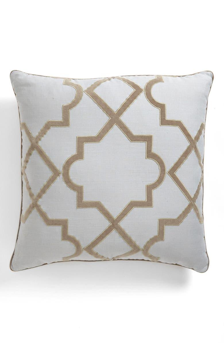 DRANSFIELD AND ROSS HOUSE 'Alhambra' Velvet Appliqué Pillow, Main, color, 330