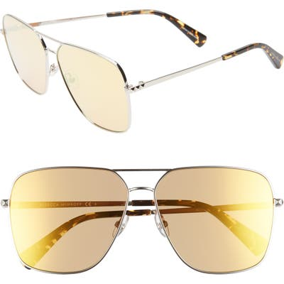 Rebecca Minkoff Stevie3 61Mm Aviator Sunglasses - Palladium