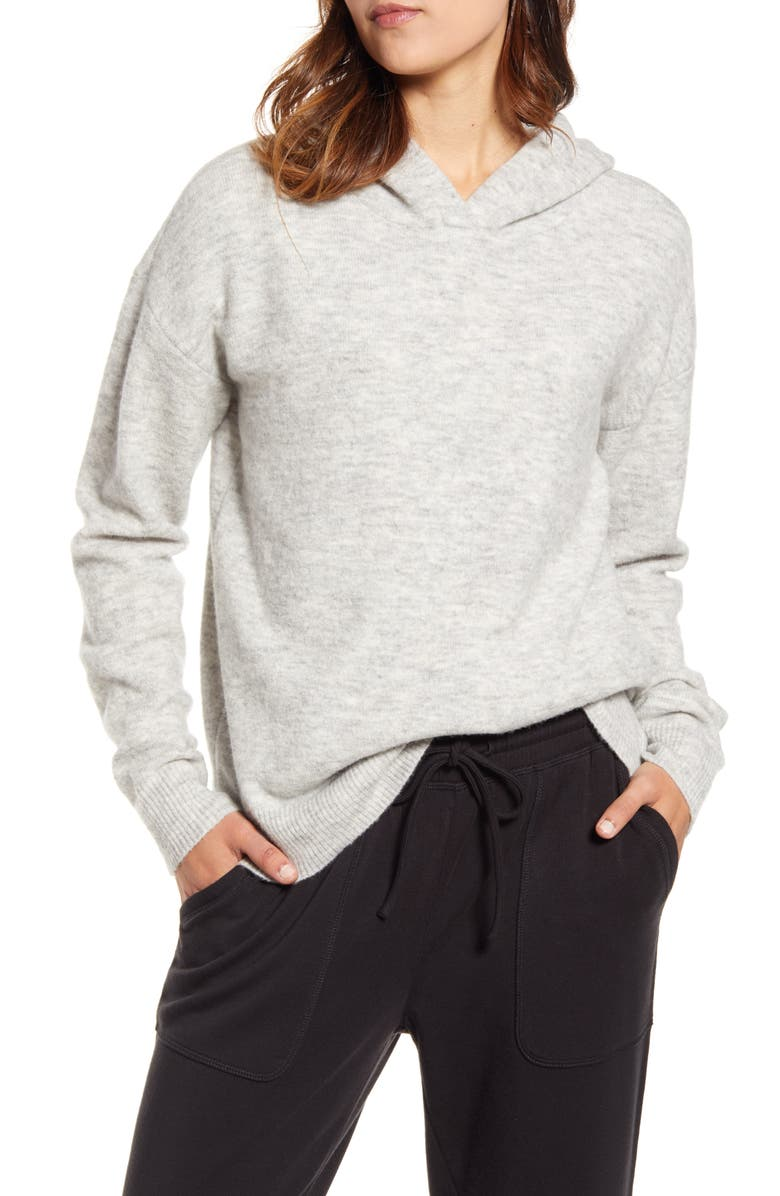 VINEYARD VINES Plush Hooded Wool Blend Sweater, Main, color, 050