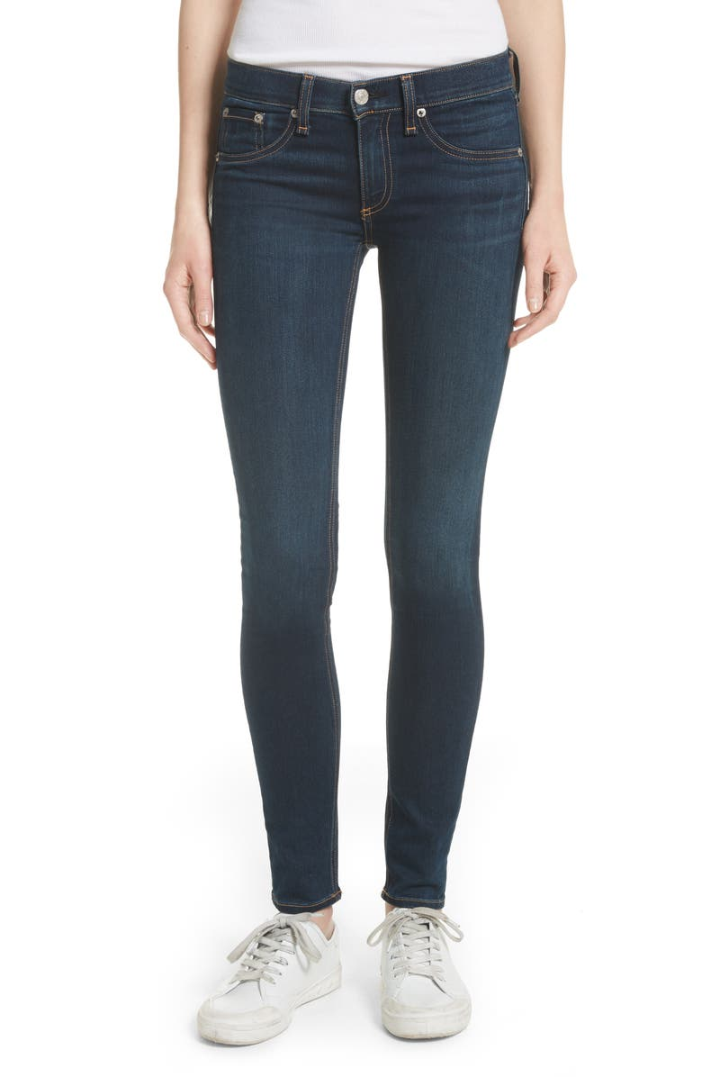 RAG & BONE Skinny Stretch Jeans, Main, color, 400