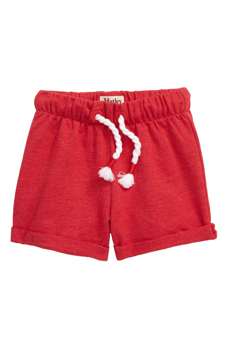 HATLEY Roll Cuff Shorts, Main, color, RED