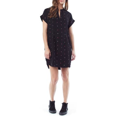 Loyal Hana Cybelle Print Maternity/nursing Dress, Black