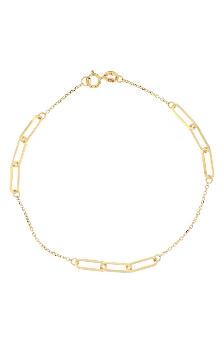 BONY LEVY 14K Gold Station Bracelet, Main, color, YELLOW GOLD