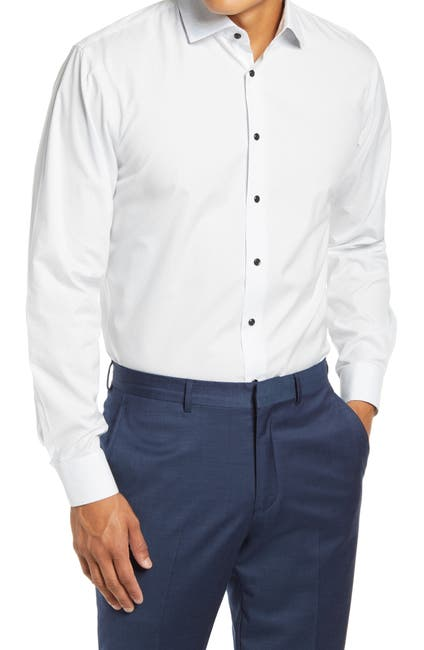 Image of Nordstrom Trim Fit Non-Iron Stretch Dress Shirt