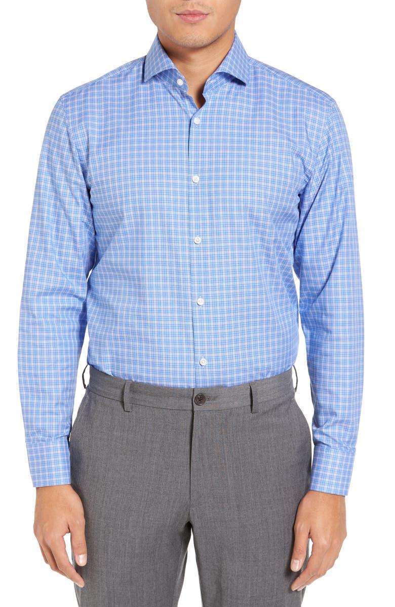BOSS Mark US Sharp Fit Plaid Dress Shirt, Main, color, 430