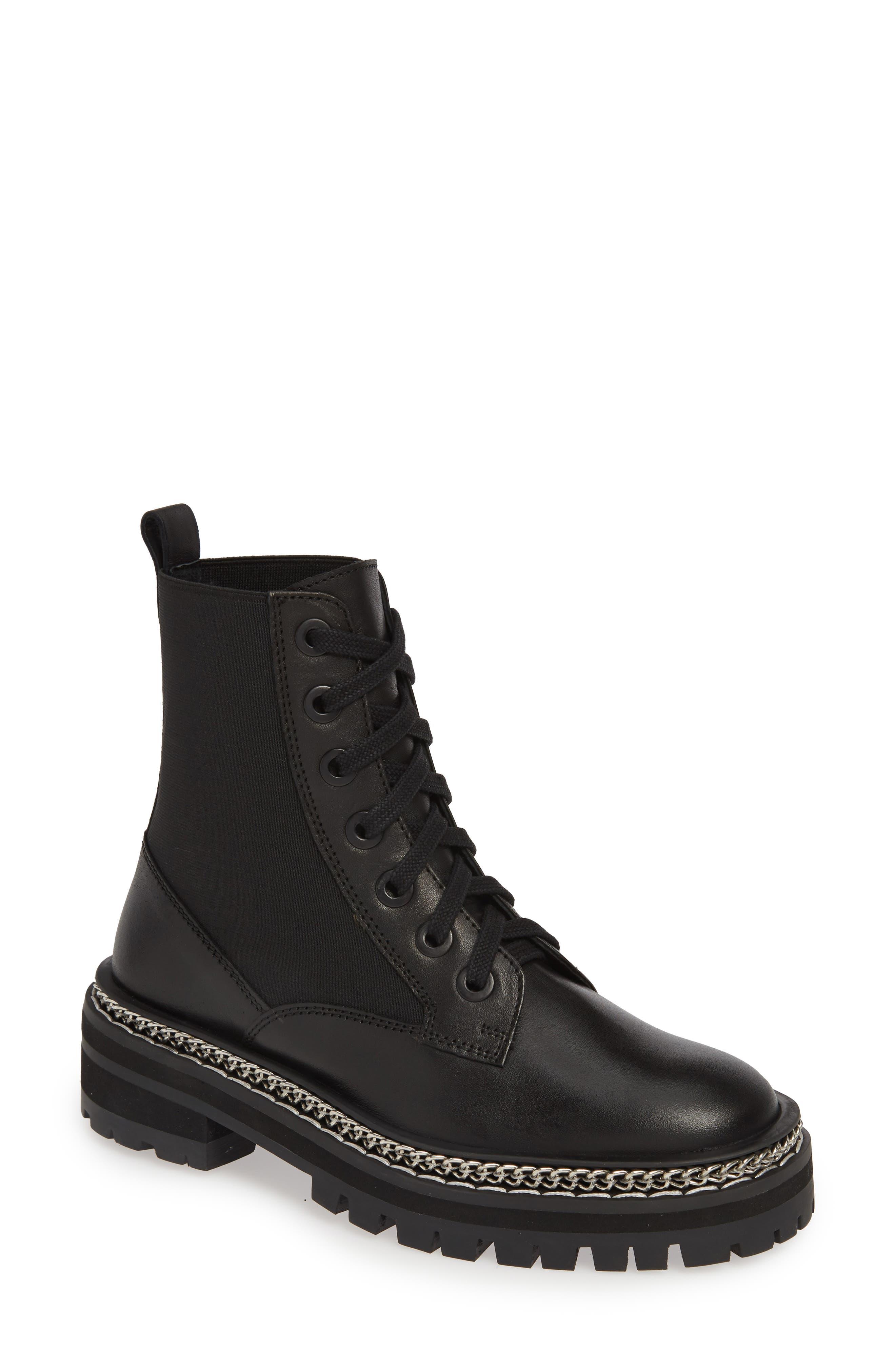 Topshop Ashton Chain Moto Boot- Black