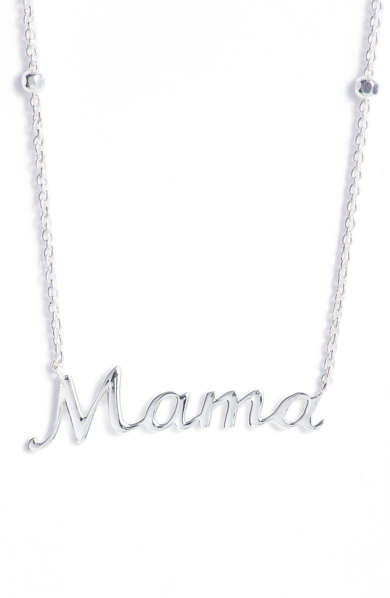 ARGENTO VIVO Mama Pendant Necklace, Main, color, SILVER