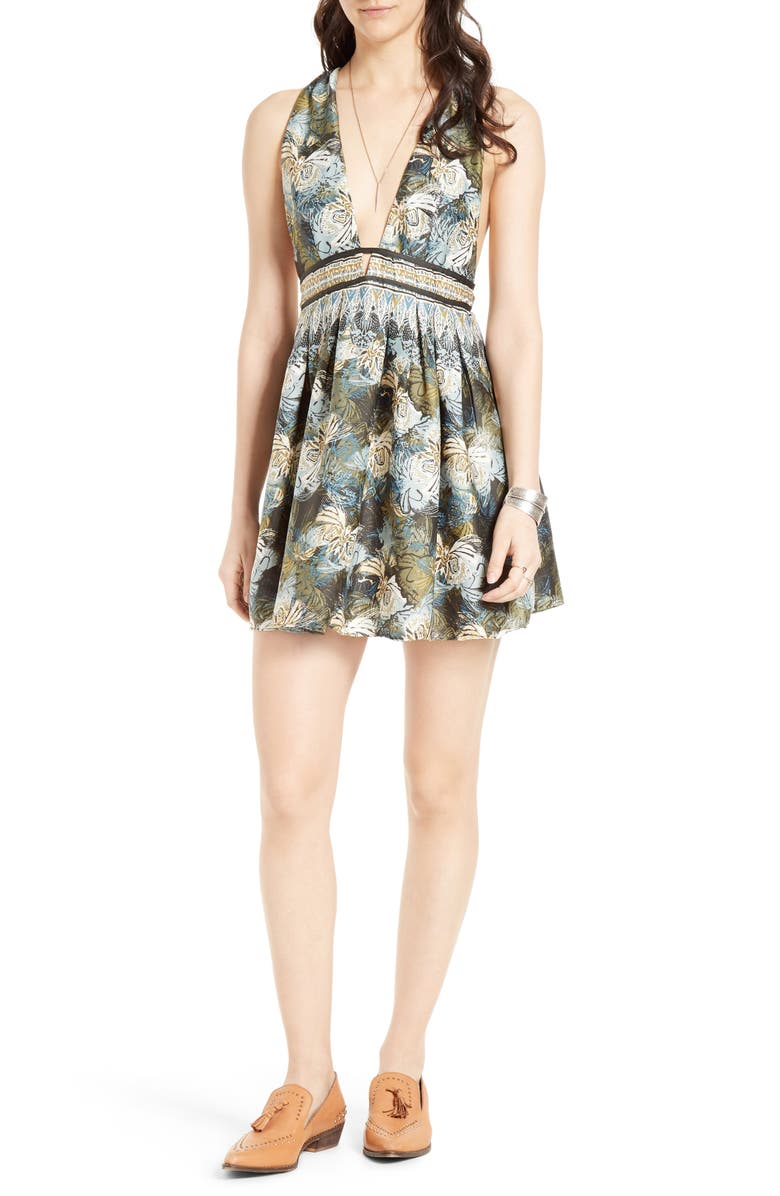 FREE PEOPLE Daydreamin Minidress, Main, color, 001