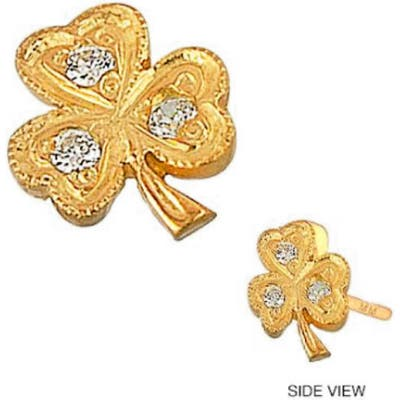 Mini Mini Jewels Diamond Icon Clover Earring