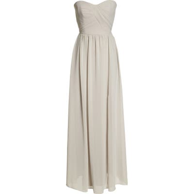 Social Bridesmaids Strapless Georgette Gown, Ivory