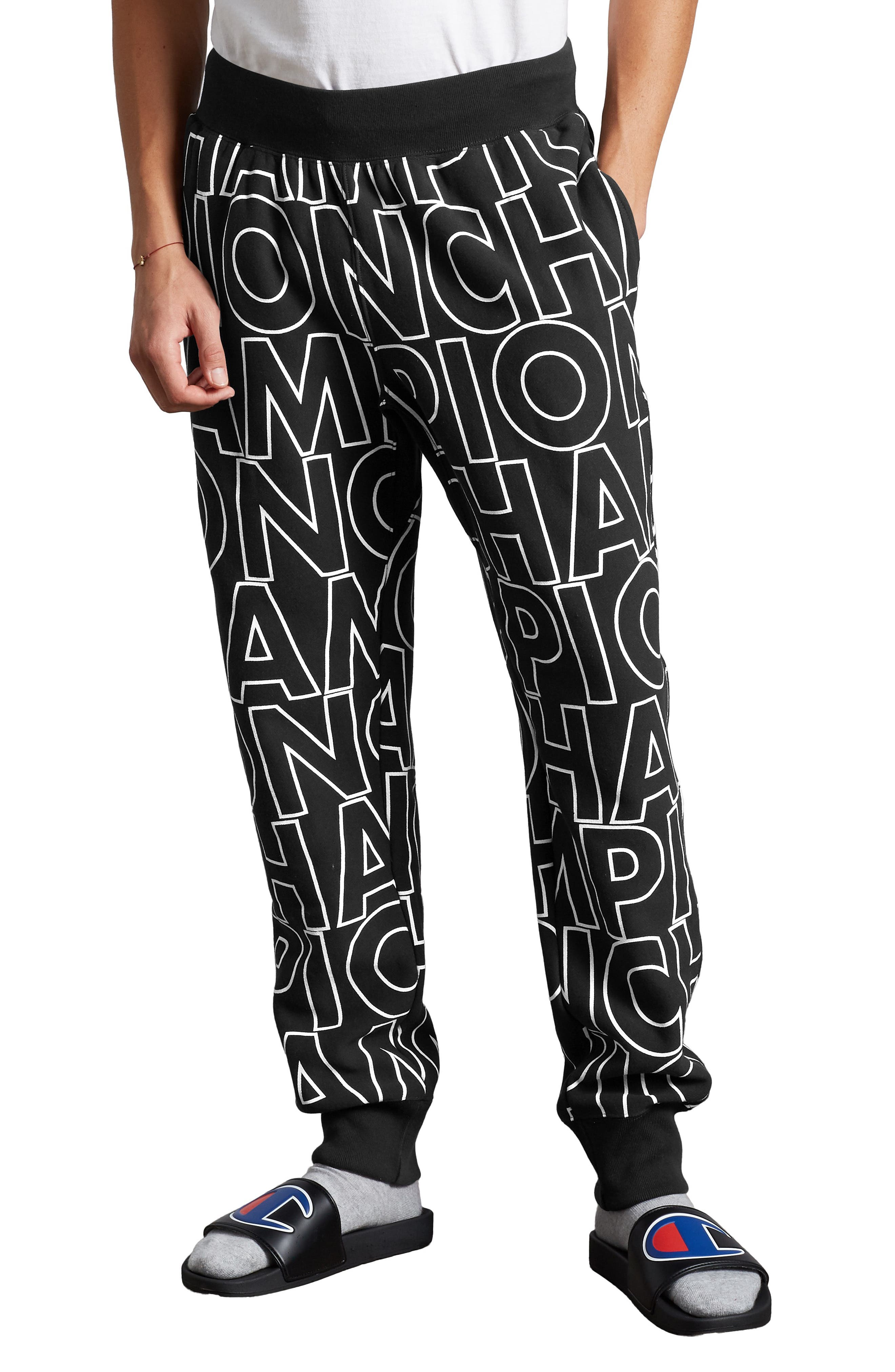 Men's Champion Block Script Sweatpants
