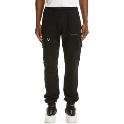 Off-White Logo Cargo Sweatpants, Black