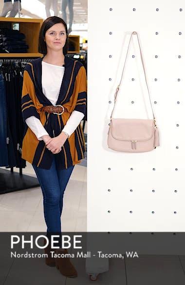 Kara Leather Expandable Crossbody Bag, sales video thumbnail