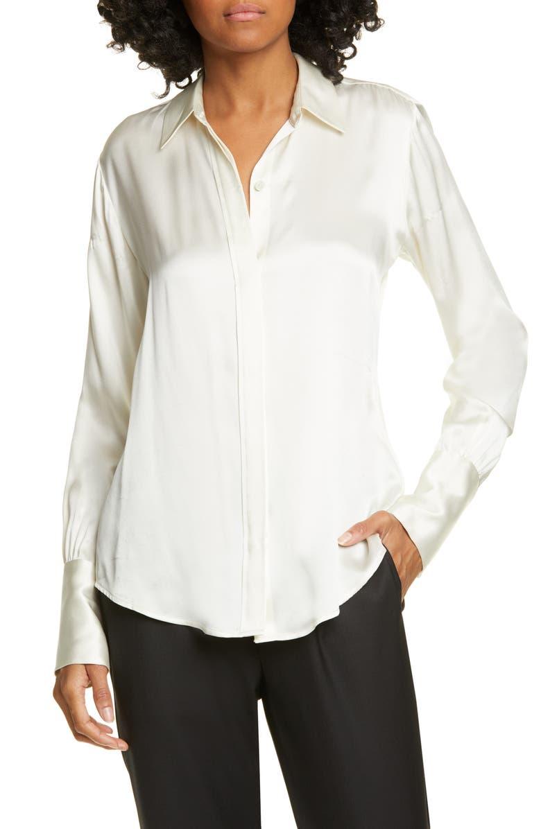 NILI LOTAN Lleida Silk Shirt, Main, color, 900