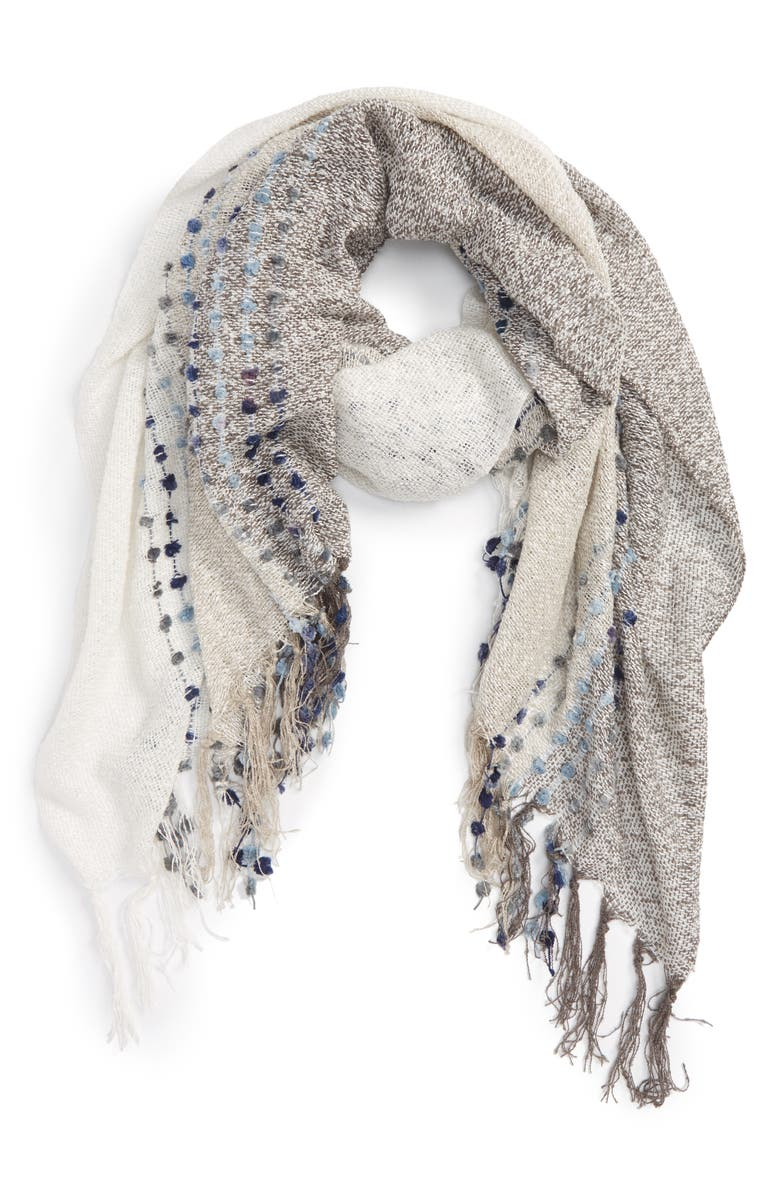 SOLE SOCIETY Knit Dot Scarf, Main, color, 101