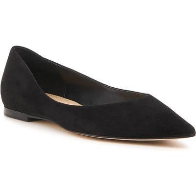Botkier Annika Pointy Toe Flat, Black