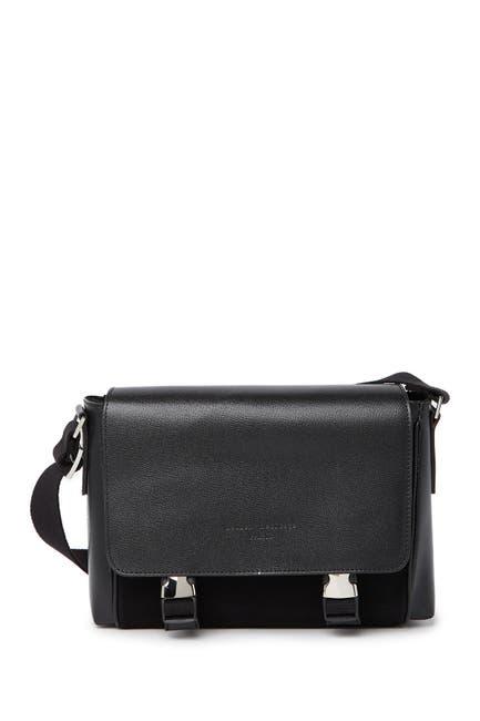 Image of Maison Heritage Leather Buckle Messenger Shoulder Bag
