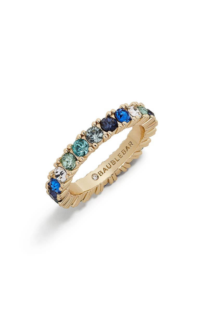 BAUBLEBAR Alette Pavé Crystal Ring, Main, color, GOLD/ BLUE OMBRE