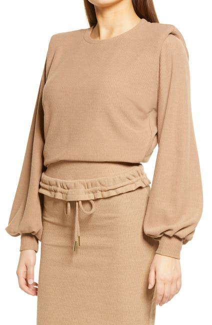 Image of LAVISH ALICE Padded Shoulder Pullover