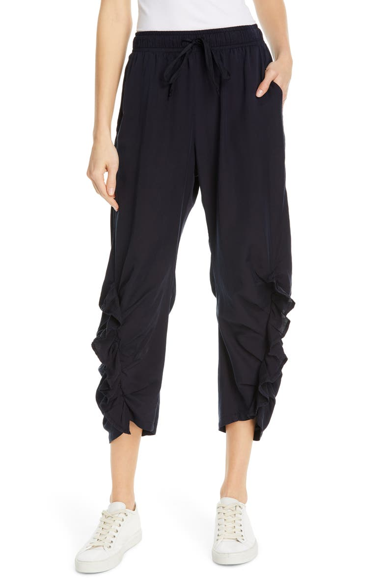 CLU Ruffled Lounge Pants, Main, color, NAVY