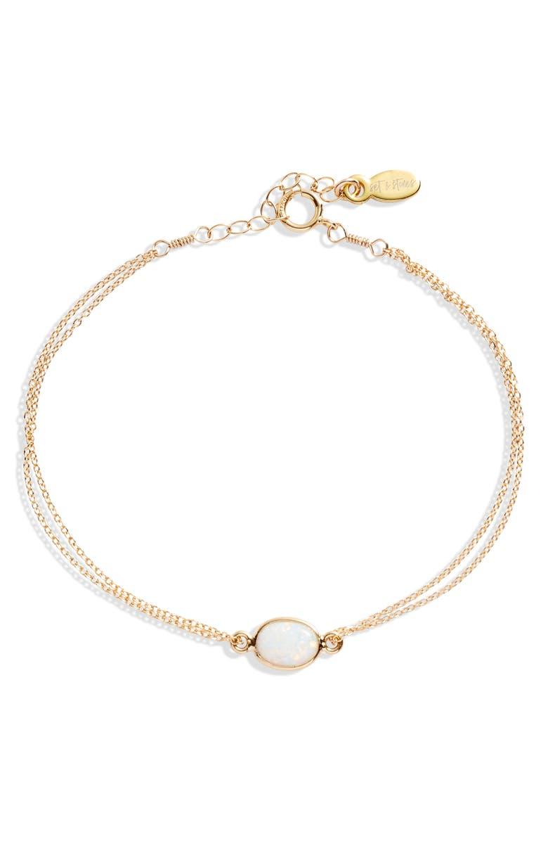 SET & STONES Maddox Station Bracelet, Main, color, GOLD