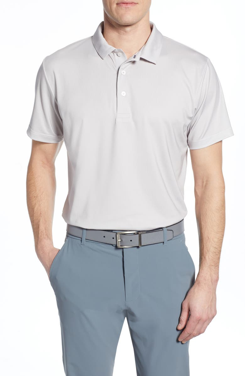 MIZZEN+MAIN Phil Mickelson Performance Golf Polo, Main, color, WHITE FOG