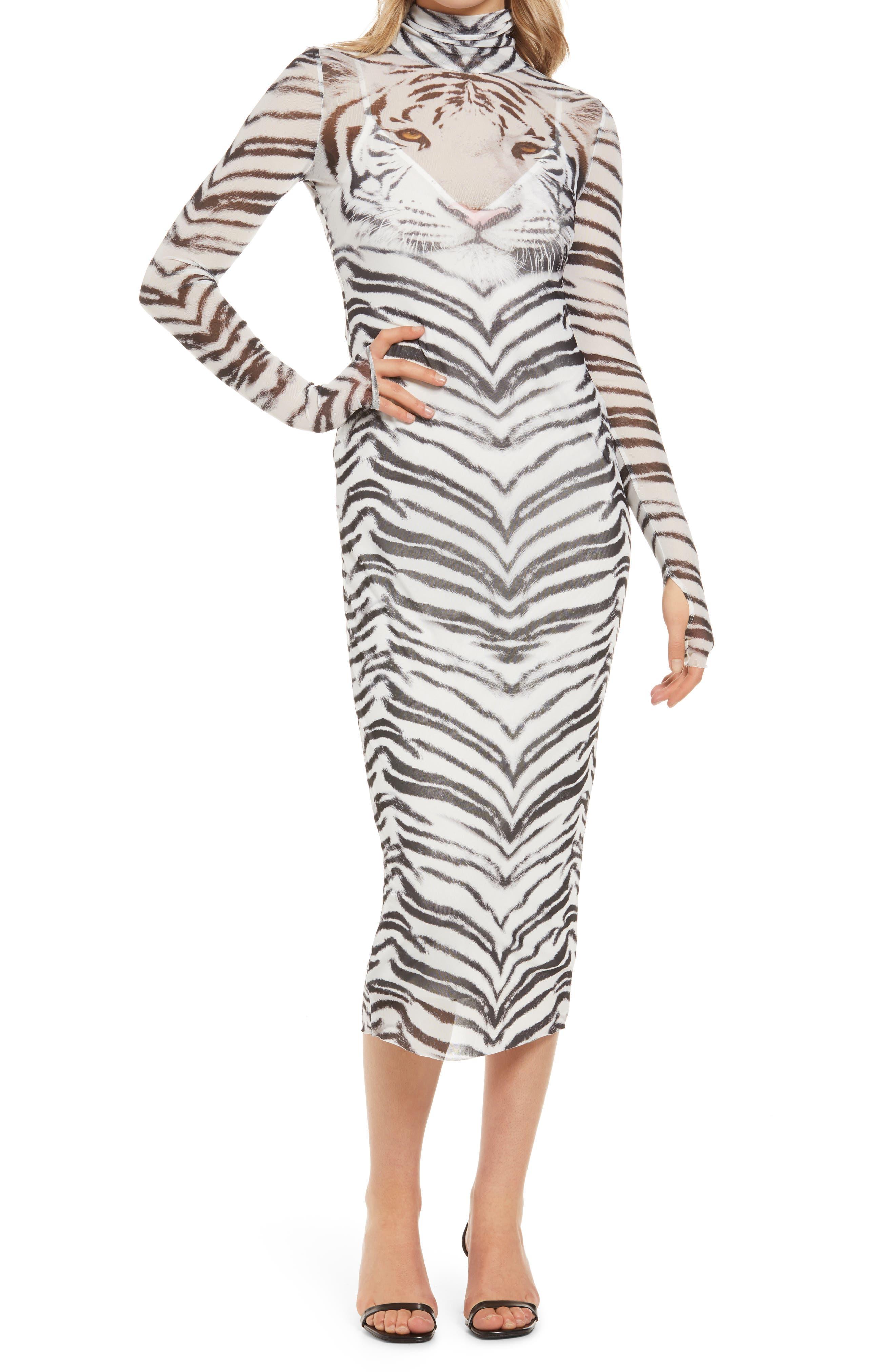 Shailene Sheer Long Sleeve Dress