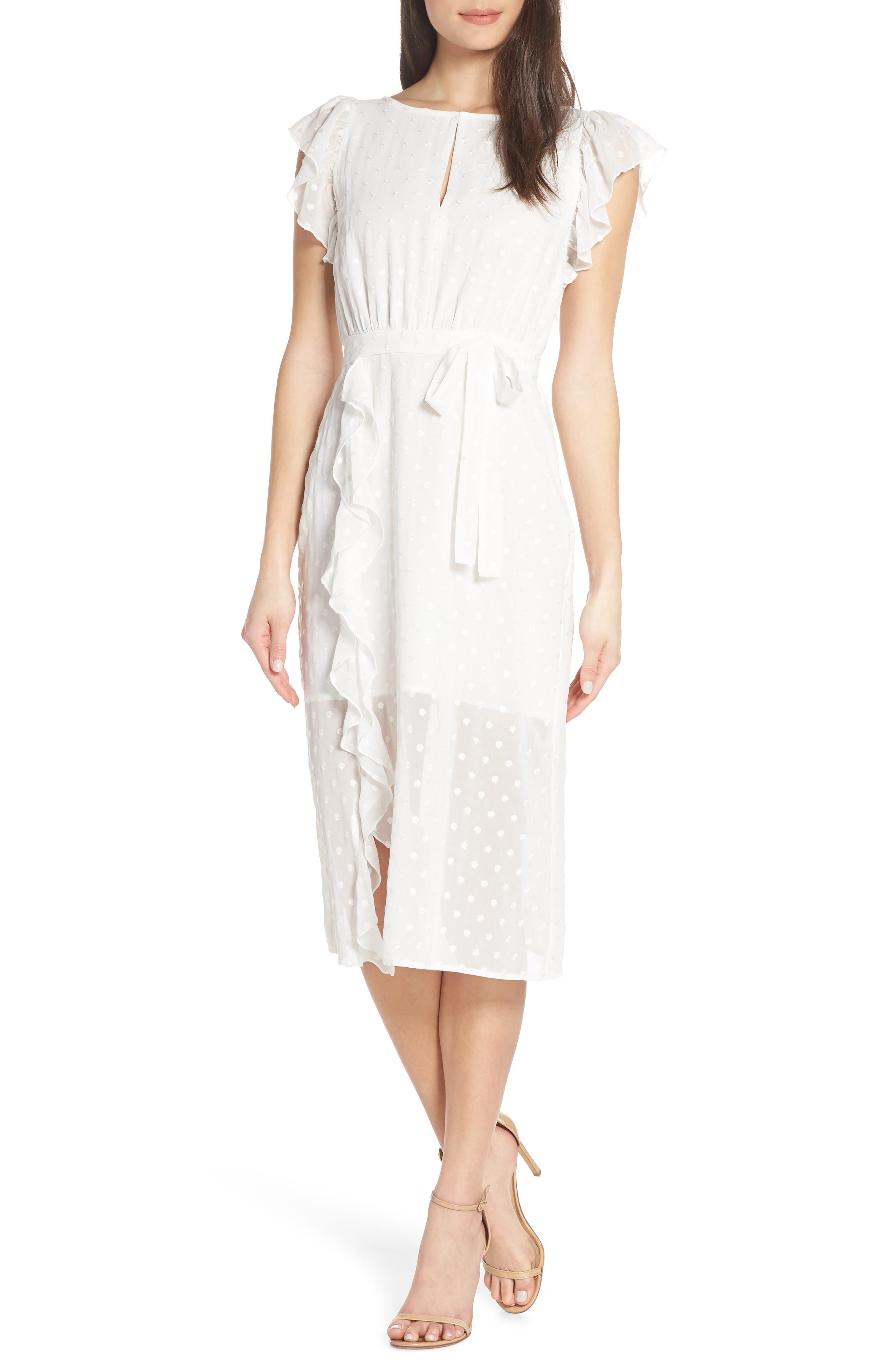 Isn't She Lovely Ruffle Midi Dress, Main, color, 104