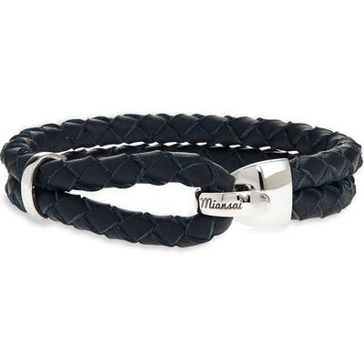 Miansai Beacon Braided Leather Bracelet