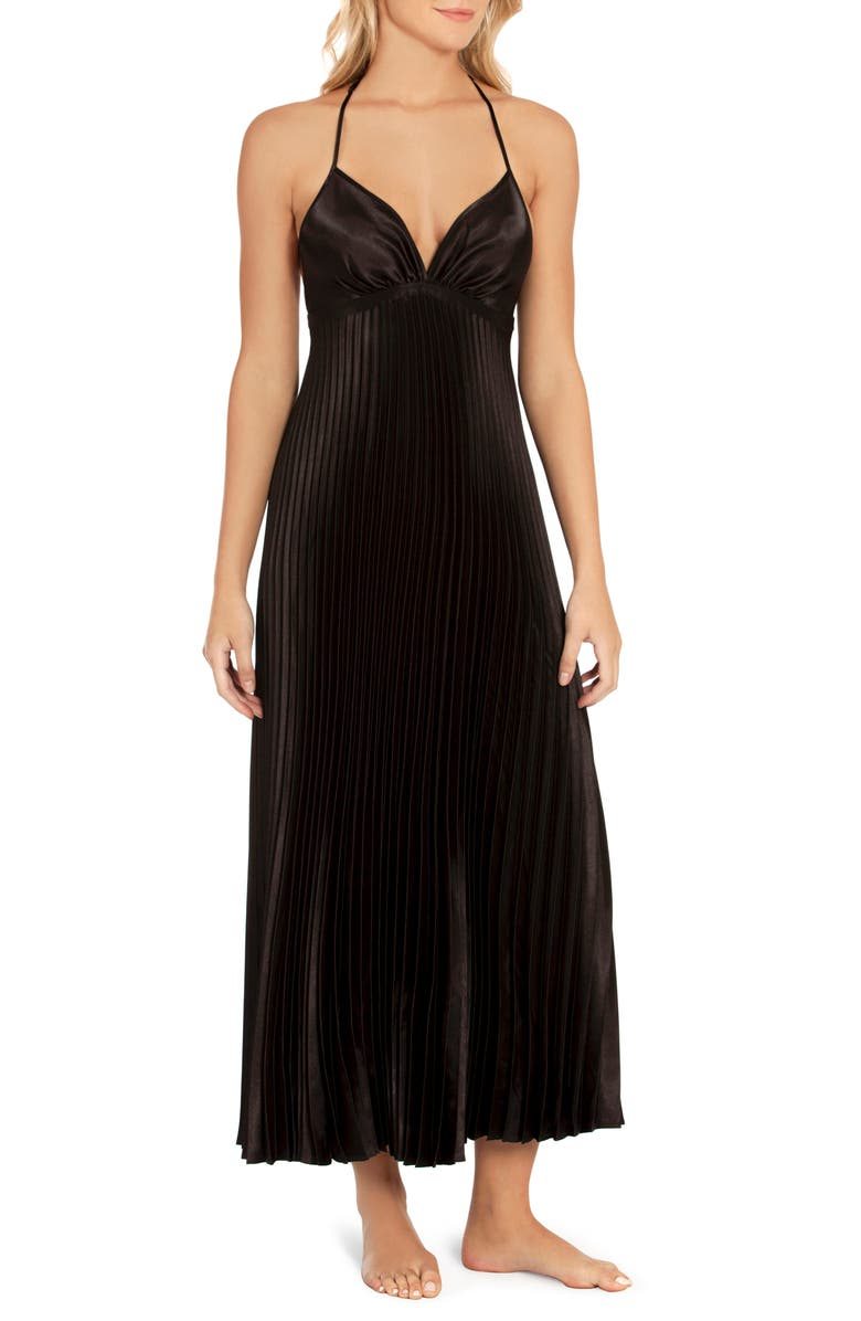 IN BLOOM BY JONQUIL Sunburst Nightgown, Main, color, BLACK