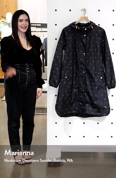 Women's Weybridge Polka Dot Packable Waterproof Raincoat, sales video thumbnail