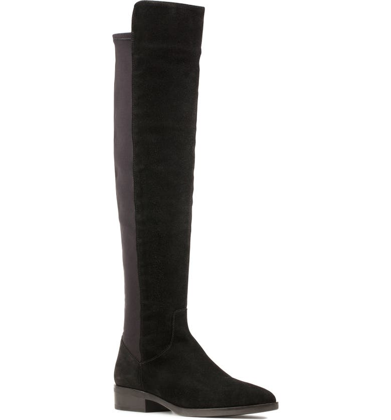 CLARKS<SUP>®</SUP> Pure Caddy Over the Knee Boot, Main, color, BLACK SUEDE