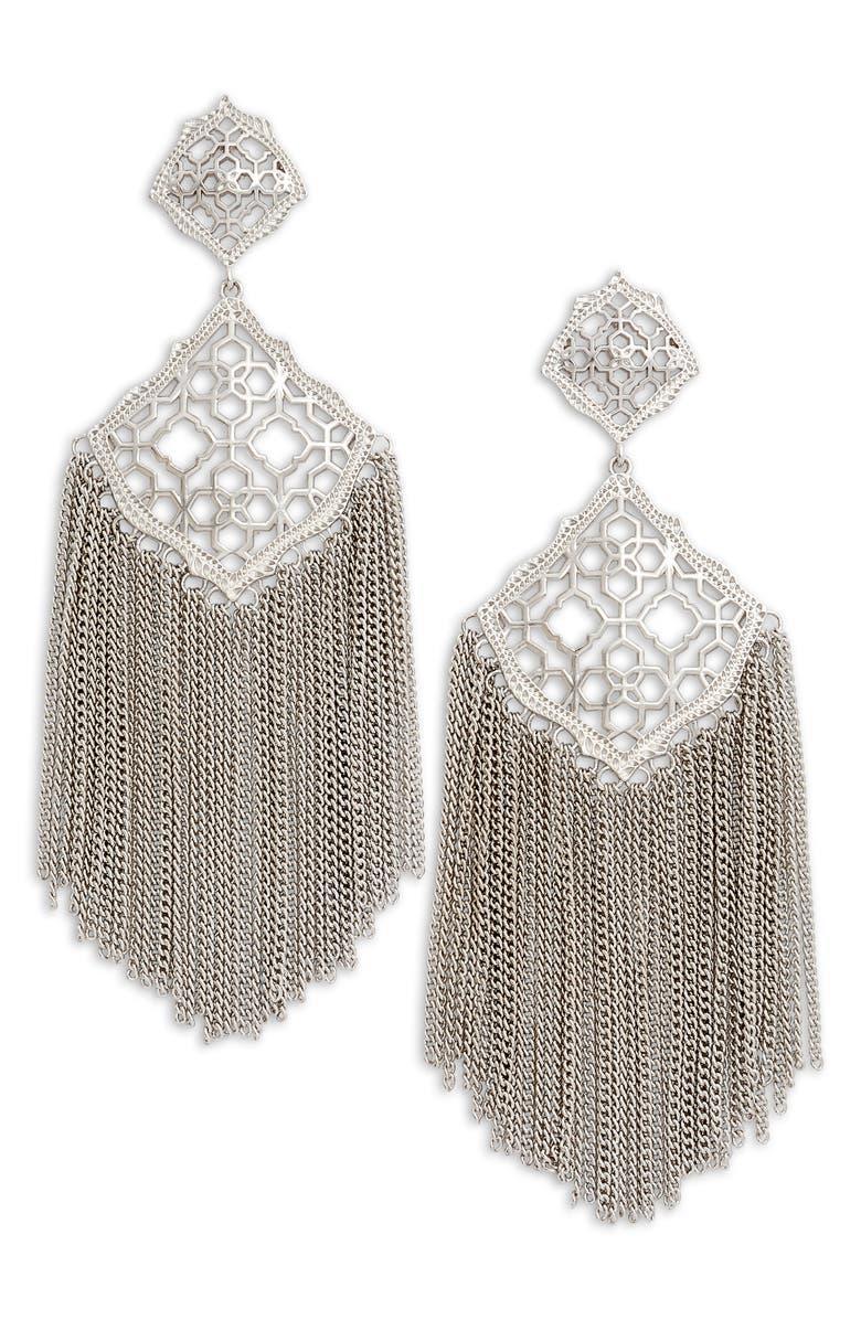KENDRA SCOTT Kimora Fringe Drop Earrings, Main, color, 040